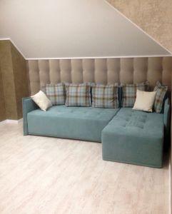 Синяя мягкая мебель - фото - 33813