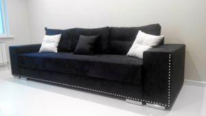 Черная мягкая мебель - фото - 33831