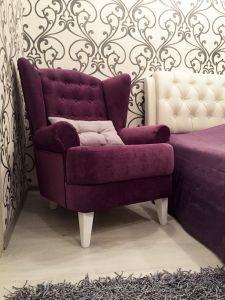 Фиолетовая и сиреневая мягкая мебель - фото - 33851