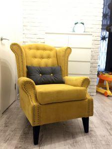 Желтая мягкая мебель - фото - 33901