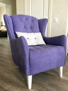 Фиолетовая и сиреневая мягкая мебель - фото - 33945