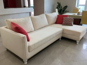 Бежевая и кремовая мягкая мебель - фото - 33961