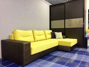 Мягкая мебель с комбинированной обивкой - 33999