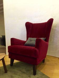 Красная мягкая мебель - фото - 34012