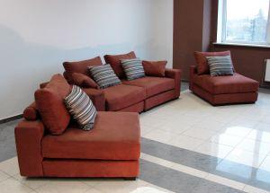 Оранжевая мягкая мебель - фото - 34071