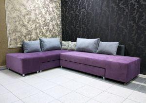 Фиолетовая и сиреневая мягкая мебель - фото - 34082