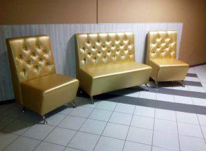 Желтая мягкая мебель - фото - 34677