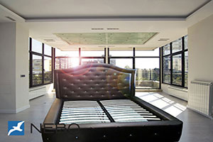 Кровать из кожи - 9768
