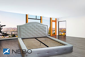 Кровать из кожи - 9769