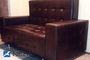 Кровать из кожи - 9832