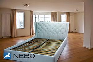 Кровать из кожи - 9838
