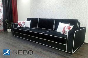 Черная мягкая мебель - фото - 9764