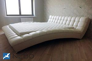 Кровать из кожи - 9448