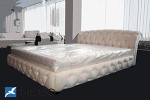 Кровать из кожи - 9451