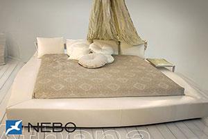 Кровать из кожи - 9452