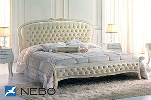 Кровать из кожи - 9454