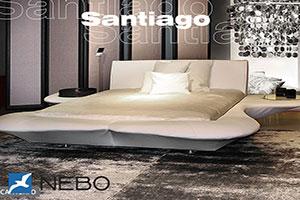 Кровать из кожи - 9459