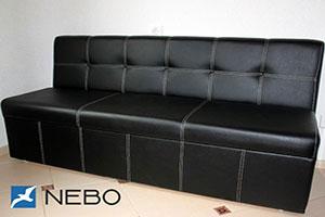 Черная мягкая мебель - фото - 9663