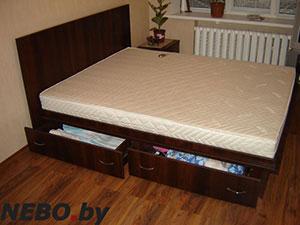 Кровати и спальни цвета венге - фото - 4872