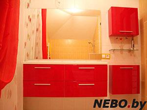 Красная мебель для ванной - фото - 5107