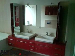 Красная мебель для ванной - фото - 5119