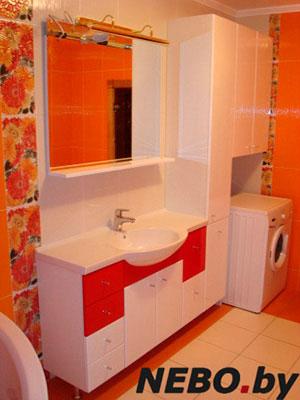 Красная мебель для ванной - фото - 5120