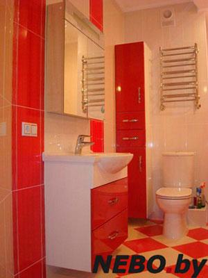 Красная мебель для ванной - фото - 5122