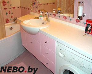 Розовая мебель для ванной - фото - 5124
