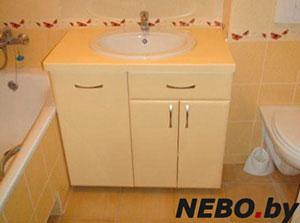 Бежевая и желтая мебель для ванной - фото - 5138
