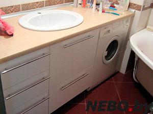Бежевая и желтая мебель для ванной - фото - 5161