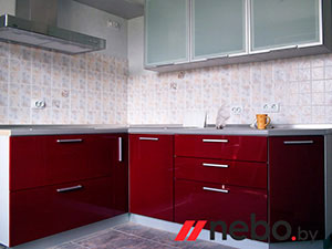 Красные кухни - фото - 3670