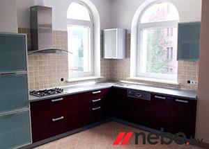 Красные кухни - фото - 3673