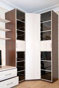 Шкафы распашные со стеклом - фото - 21096