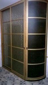 Шкафы-купе с зеркалом бронза - фото - 21148