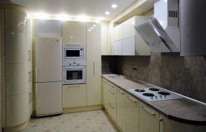 Желтые и бежевые кухни - фото - 23155