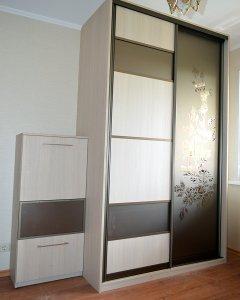 Шкафы-купе с зеркалом бронза - фото - 23186