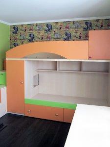 Оранжевая детская мебель - фото - 23282