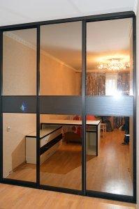 Шкафы-купе с зеркалом графит - фото - 23338