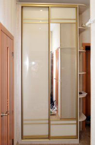 Шкафы-купе с зеркалом бронза - фото - 23642