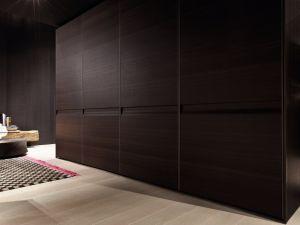Шкафы-купе с фасадами из шпона - 29698