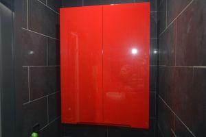 Красная мебель для ванной - фото - 31087