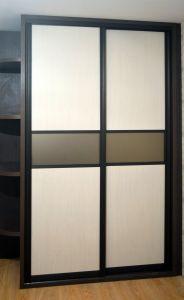 Шкафы-купе с зеркалом бронза - фото - 31114