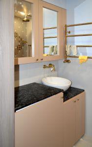 Бежевая и желтая мебель для ванной - фото - 32668