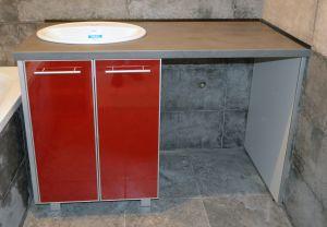 Красная мебель для ванной - фото - 32670
