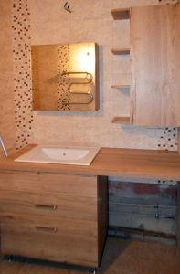 Бежевая и желтая мебель для ванной - фото - 32926