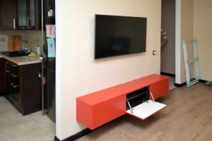 Оранжевые тумбы под телевизор - фото - 32994