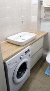 Бежевая и желтая мебель для ванной - фото - 33066