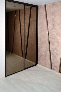 Шкафы-купе с зеркалом бронза - фото - 33155