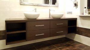 Мебель для ванной цвета венге - фото - 33545