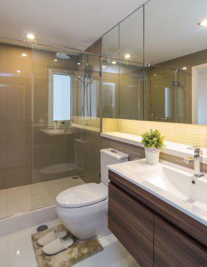 Мебель для ванной цвета венге - фото - 6407